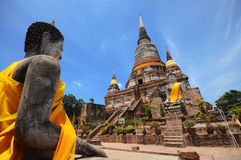 Old Temple. Of Ayuthaya, Thailand royalty free stock photos