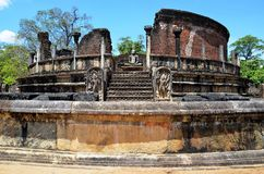 Old temple in Ancient city, Polonnaruwa, Srí Lanka Royalty Free Stock Photo