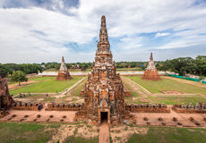 Old Temple  of Ayuthaya Province Stock Images