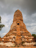Old Temple of Ayuthaya Stock Photo