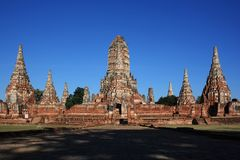 OLD TEMPLE - Ayuttaya Stock Photo