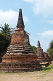 Old Temple of Ayutthata, Thailand Royalty Free Stock Photo
