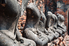 Old Temple of Ayutthata, Thailand Royalty Free Stock Images
