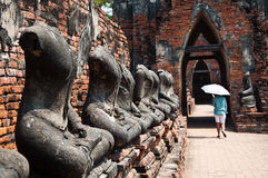 Old Temple of Ayutthata, Thailand Stock Images