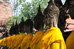 Old Temple of Ayutthata, Thailand Royalty Free Stock Photos