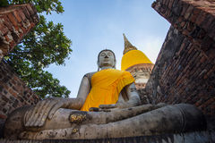 Old temple in ayutthaya Royalty Free Stock Image
