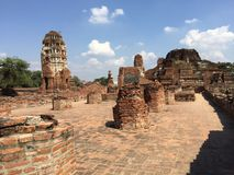 The old temple. In Ayutthaya province Stock Image