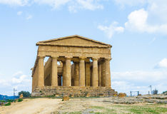 Old temple Concord, Valley of temples, Agrigento, Sicily Stock Image