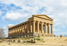 Old temple Concord, Valley of temples, Agrigento, Sicily Stock Photos