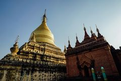 Old Temple Dhammayazika Pagoda in Bagan Myanmar Royalty Free Stock Photography