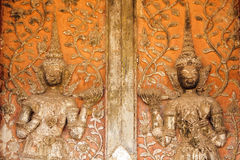 Old temple door detail Stock Image