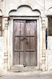 Old Temple Door India with Arch Stock Images