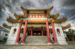 Old temple entrance at sandakan Royalty Free Stock Photo