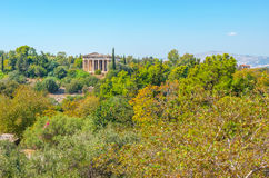 The old temple. Temple of Hephaestus is most preserved building ancient period on Ancient Agora site in Athens, Greece Stock Photography