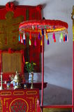 Interior detail of an old temple in Hoi An Royalty Free Stock Images
