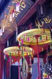 Decorative traditional Chinese umbrellas Stock Image