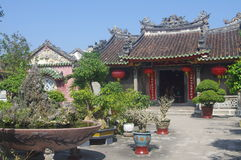 Historic Chinese Temple in Hoi An. Traditional architecture of historic Chinese Temple in Hoi An, UNESCO World Heritage Site. Vietnam, Asia royalty free stock image