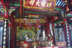 Interior view of old Buddhist Temple Royalty Free Stock Images