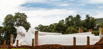 The old temple inThailand. Buddha in the old temple Thailand Royalty Free Stock Photo