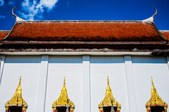 Old temple in Kanchanaburi. Old temple style in Kanchanaburi Thailand stock photo