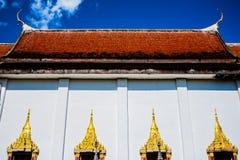 Old temple in Kanchanaburi Stock Photo