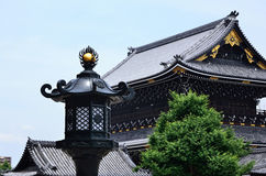 Old temple and lantern, Kyoto Japan. Royalty Free Stock Photos