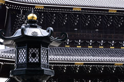 Old temple and lantern, Kyoto Japan. Stock Photos