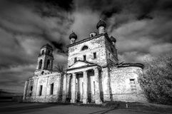 Old Temple in the name of the Bogolyubsky icon of the mother of God, village of Galka, the Urals, Russia, Sverdlovsk oblast. Old Temple in the name of the Royalty Free Stock Image