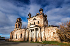 Old Temple in the name of the Bogolyubsky icon of the mother of God, village of Galka, the Urals, Russia, Sverdlovsk oblast. Old Temple in the name of the Royalty Free Stock Photo