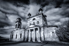 Old Temple in the name of the Bogolyubsky icon of the mother of God, village of Galka, the Urals, Russia, Sverdlovsk oblast. Old Temple in the name of the Stock Photography