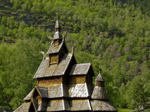 Old temple norway bourgund Royalty Free Stock Image