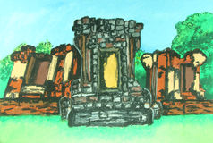 Old temple painting Royalty Free Stock Photography