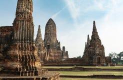 Old temple park. Chai Watthanaram temple in Ayuhtthaya Province, Thailand Royalty Free Stock Image