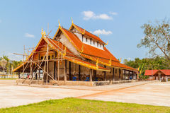 An old temple in reparation Royalty Free Stock Image