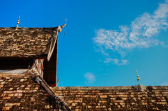 Old temple roof Royalty Free Stock Photos