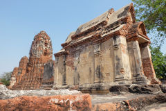 Old temple and ruin in Ayutthaya.  Royalty Free Stock Photography