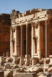 Old temple ruins in Baalbeck Lebanon Royalty Free Stock Image