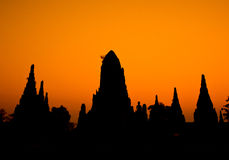 Old temple Silhouette Royalty Free Stock Images