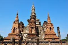 Old temple in Sukhothai Royalty Free Stock Photos