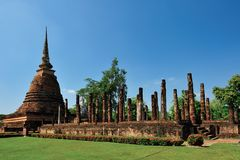 Old temple in Sukhothai Stock Photography