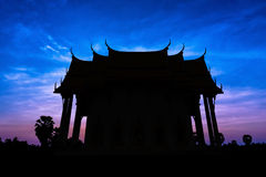 Old temple on twilight time Royalty Free Stock Photos