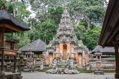 Old temple in Ubud Monkey Forest, Bali island Royalty Free Stock Image