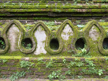 Old temple wall. And mosses royalty free stock images