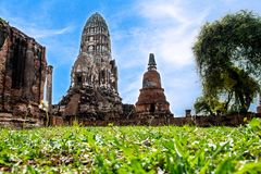Old Temple Wat of Ayutthaya Province in Ayutthaya Historical Park, Thailand stock image
