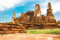 Old Temple Wat of Ayutthaya Province in Ayutthaya Historical Park, Thailand stock photos