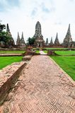 Old Temple Wat Chai watthanaram in Ancient Ayuttaya Stock Photography