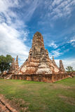 Old Temple wat Chaiwatthanaram of Ayuthaya Province Stock Photos