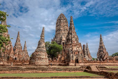 Old Temple wat Chaiwatthanaram of Ayuthaya Province( Ayutthaya Historical Park )Asia Thailand Royalty Free Stock Photos