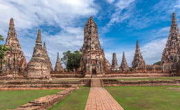 Old Temple wat Chaiwatthanaram of Ayuthaya Province( Ayutthaya Historical Park )Asia Thailand Royalty Free Stock Images