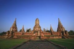 Old temple at Wat Chaiwatthanaram, Ayutthaya province, Thailand. Royalty Free Stock Photography